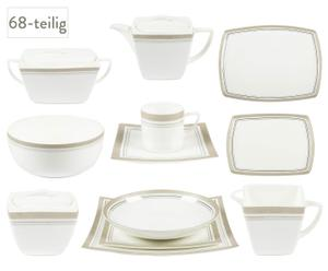 Service Amaryllis aus Bone China, 68-tlg.