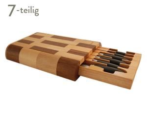 Messer-Set mit Schubkasten BAINVILLE, 7-tlg.