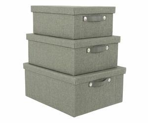 Aufbewahrungsboxen-Set Henry mit Deckel, 3-tlg.