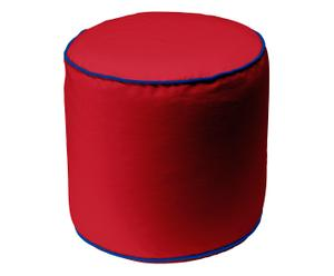 Pouf Lorianne, Ø 47 cm, rot