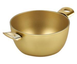 Casseruola in alluminio rivestimento Stonegold oro - d 24 cm