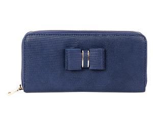 Portemonnaie, blau/braun, B 20 cm