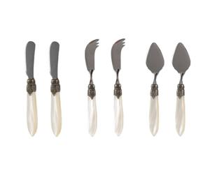 Messer-Set Murano, 6-tlg., creme