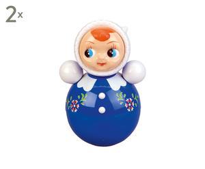 Stehauf-Puppen Girl, 2 Stück, H 25 cm