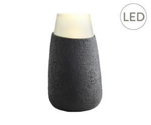 LED-Bodenleuchte Sprig, dunkelbraun, Ø 19 cm