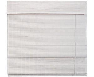 Holz-Raffrollo weiß, B 100 cm