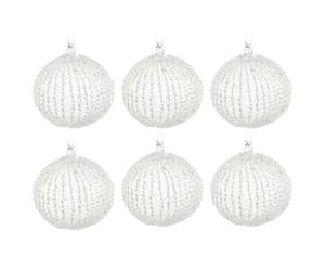 Christbaumkugel-Set Chrystal CLAIR, 6 Stück, Ø 8 cm