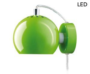 LED-Wandleuchte Ball, Grün glänzend, Ø 12 cm
