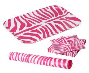 Picknick-Set Zebra Pink, 3-tlg.