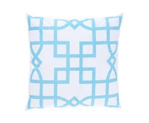 Kissen Maze, hellblau