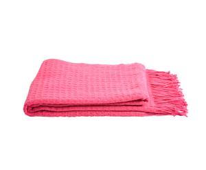 Decke Waffleweave, pink