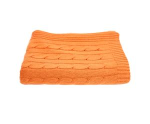 Decke Blend Cable Knit, orange
