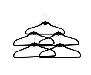 Kleiderbügel-Set Doreen, 5 Stück, schwarz