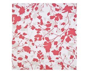 Set de 4 rollos de papel pintado Santiago – blanco, rojo y gris
