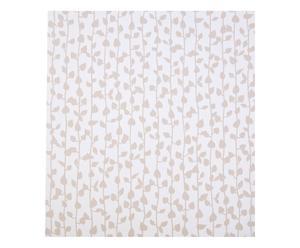 Set de 4 rollos de papel pintado Santiago – blanco y beige