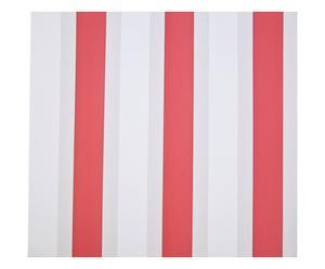 Set de 4 rollos de papel pintado Santiago – blanco, gris y rojo
