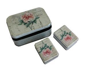 Set de 3 cajas Roses