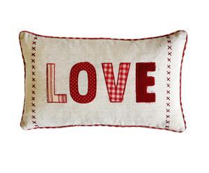 Cojín en patchwork Love - 40x50