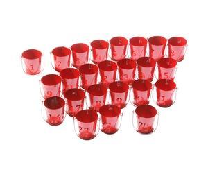 Calendario de Adviento Cubos - rojo