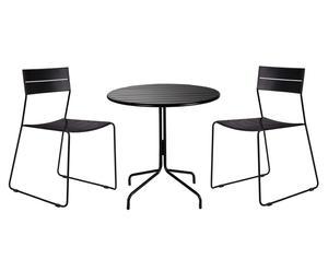 Set de mesa y 2 sillas NY – Negro
