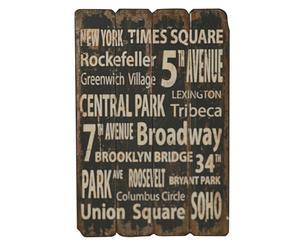 Tabla de madera Nueva York