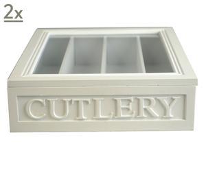 Caja de madera Cutlery