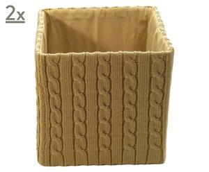 Set de 2 cajas Dallington - beige