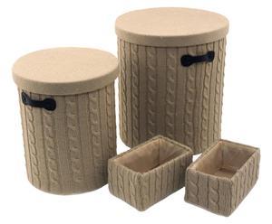 Set de 4 cestas Leighfield - beige