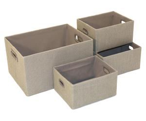 Set de 4 cestas Rockingham - beige