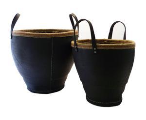 Set de 2 cestas de goma