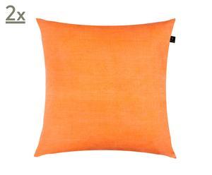 Set de 2 fundas de cojín Sofia, naranja – 50x50