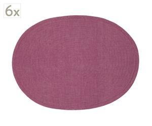 Set de 6 manteles individuales Corsini – lila y Coral