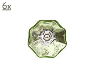 Set de 6 tiradores Silver Star – verde