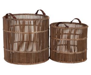 Set de 2 cestas de ratán Palmdale