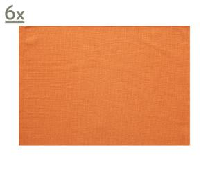 Set de 6 manteles individuales – naranja