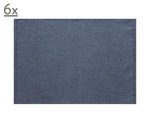 Set de 6 manteles individuales – azul marino