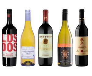 Weinpaket Wine around the World, 5-tlg.