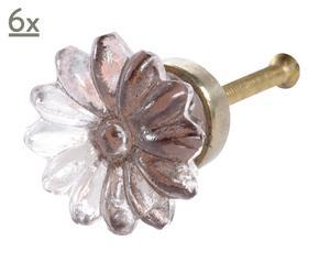 Set de 6 tiradores Flor – rosa palo