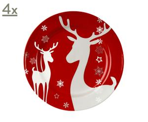 Set de 4 platos de postre Christmasworld
