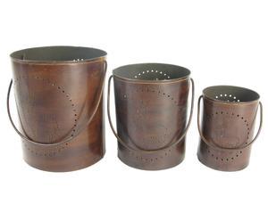 Set de 3 portavelas Iron
