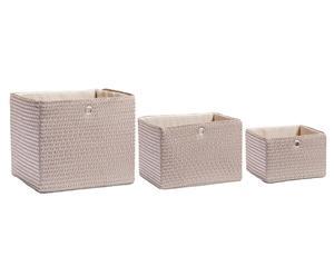 Set de 3 cestas cuadradas