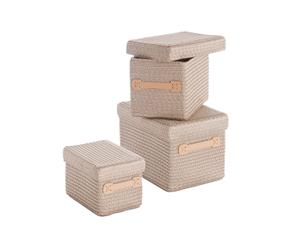Set de 3 cestas de almacenaje – Beige