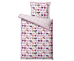 Set de ropa de cama para niños Elliotts Starfall, rosa - 100x140