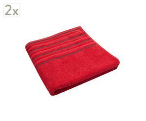 Set de 2 toallas de ducha Memories – Rojo