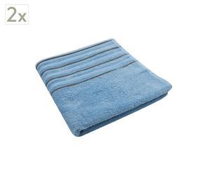 Set de 2 toallas de ducha Memories – Azul claro