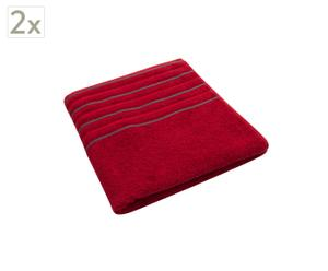 Set de 2 toallas de ducha Memories – Rubí