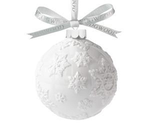 Bola de Navidad con copos de nieve – blanco