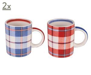 Set de 4 tazas de cerámica