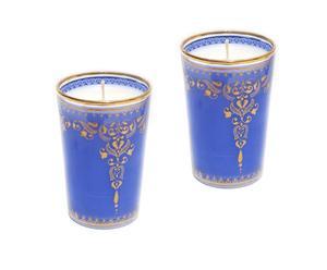 Set de 2 velas perfumadas Henna – azul