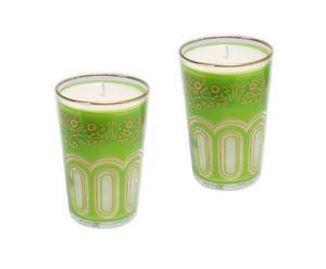 Set de 2 velas perfumadas Henna – verde